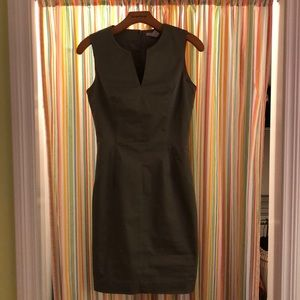 Olive fitted dress
